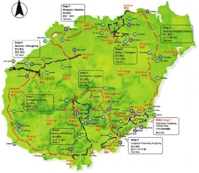 环海南岛国际公路自行车竞赛路线公布  举办:10月28日至11月5日 总